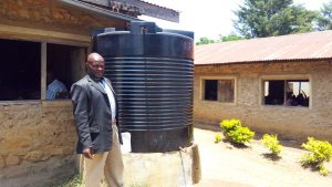 The Water Project:  Headteacher At The Small Water Tank