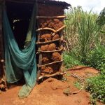 The Water Project: Mbande Community, Handa Spring -  Latrine