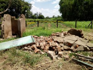 The Water Project:  Demolished Latrines