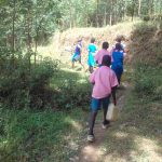 The Water Project: Kapsotik Primary School -  Going To Fetch Water
