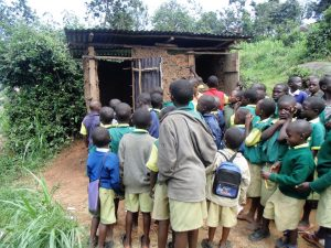 The Water Project:  Boys Queue At Latrines