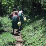 The Water Project: Gemeni Salvation Primary School -  Students Carry Water From Spring To School