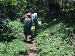 The Water Project:  Students Carry Water From Spring To School