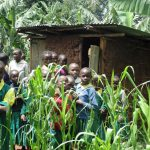 The Water Project: Gemeni Salvation Primary School -  Students Pose At Their Latrines