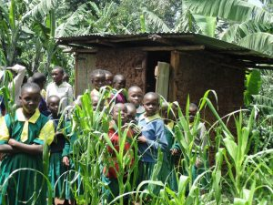 The Water Project:  Students Pose At Their Latrines