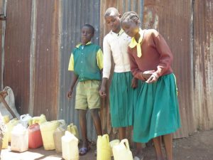 The Water Project:  Students Pose With Water Containers They Use To Fetch Water