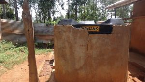 The Water Project:  Plastic Tank Used To Collect And Store Rain Water
