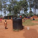 The Water Project: Shihalia Primary School -  Tank Storing Water Students Bring From Home