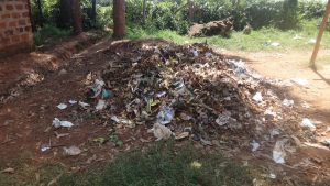 The Water Project:  Dumpsite At The School