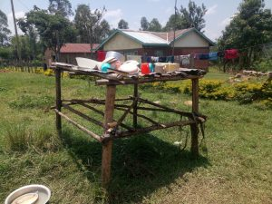 The Water Project:  A Dishrack Outside The Kitchen