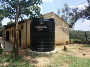 The Water Project:  A Plastic Water Tank At The School