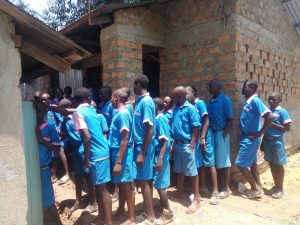 The Water Project:  Congestion At The Boys Latrine