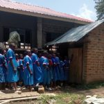 The Water Project: Naliava Primary School -  Girls Line For Latrine