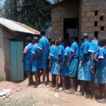 The Water Project: Naliava Primary School -  Queue For Latrine