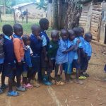 The Water Project: Shihimba Primary School -  Pupils Line Up