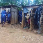The Water Project: Shihimba Primary School -  Students Use Latrines