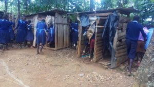 The Water Project:  Students Use Latrines