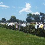 The Water Project: Precious School Kapsambo Secondary -  Hanging Clothes On Flower Beds