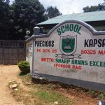 The Water Project: Precious School Kapsambo Secondary -  School Sign