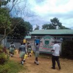 The Water Project: Precious School Kapsambo Secondary -  Students Bring Water Into School