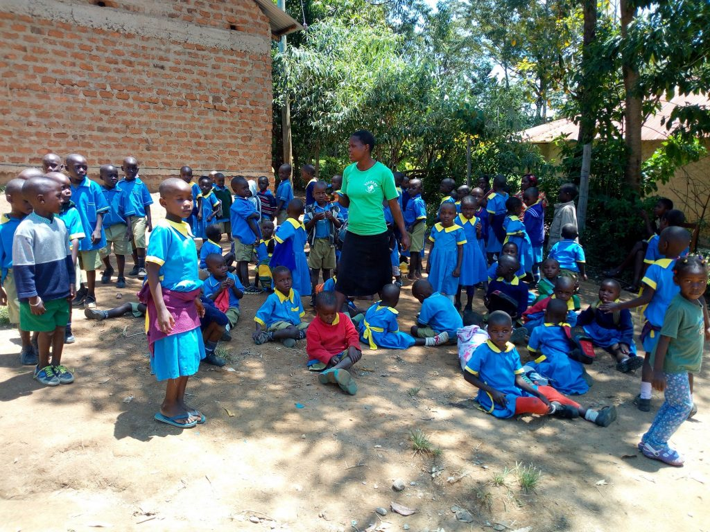 The Water Project : kenya18076-students-at-the-school-grounds