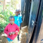 The Water Project: Emukangu Primary School, Shibuli -  Students Pose At The Mobile Latrines