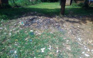 The Water Project:  An Open Dumpsite At The School