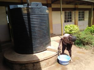 The Water Project:  Rainwater Collection Tank