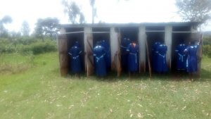 The Water Project:  Girls Line Up For Latrines