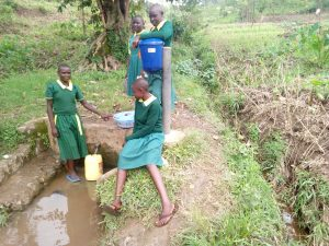 The Water Project:  Girls Post By Spring