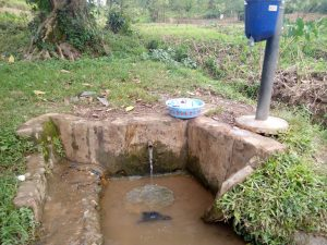 The Water Project:  Spring Where Students Fetch Water