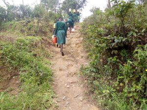 The Water Project:  Steep Climb With Pounds Of Water