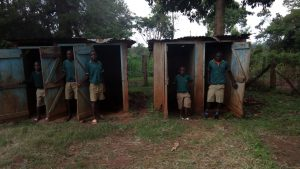 The Water Project:  Students Stand In Latrines