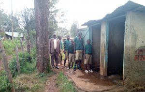 The Water Project:  Boys Pose At Their Latrines