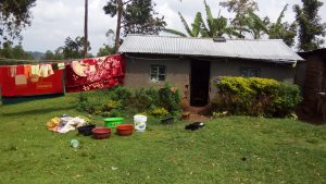 The Water Project:  Clothes Drying Infront Of A Household In The Village
