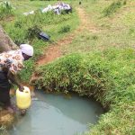 The Water Project: Matsakha Community, Siseche Spring -  Fetching Water At The Spring