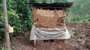The Water Project:  Latrine And Improvized Handwashing Station