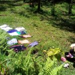 The Water Project: Musutsu Community -  Clothes Dry Laid Out On The Lawn