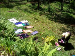 The Water Project:  Clothes Dry Laid Out On The Lawn