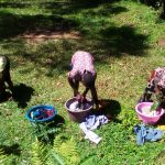 The Water Project: Musutsu Community -  Community Children Washing Next To The Spring