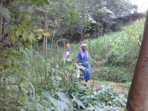 The Water Project:  Woman Brings Jerrycan To Spring