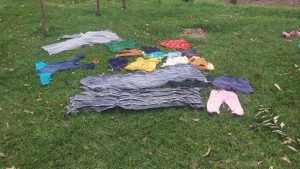 The Water Project:  Clothes Left To Dry On The Ground