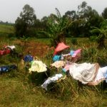 The Water Project: Mungaha B Community, Maria Spring -  Clothes Left To Dry On Bushes At The Spring