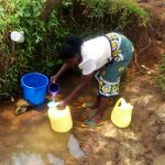 The Water Project: Mungaha B Community, Maria Spring -  Drawing Water At Maria Unprotected Water Point