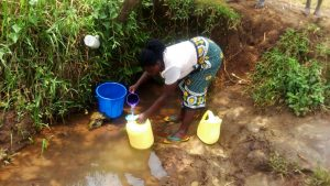 The Water Project:  Drawing Water At Maria Unprotected Water Point