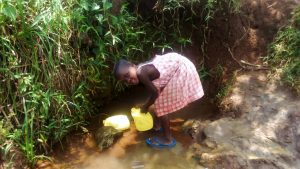 The Water Project:  Young Becky Fetching Water At The Spring