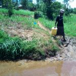 The Water Project: Chegulo Community, Yeni Spring -  A Lady Heading To The Spring