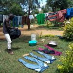 The Water Project: Chegulo Community, Yeni Spring -  Drying Of Clothes