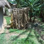 The Water Project: Muyundi Community, Ngalame Spring -  A Bathroom Made Of Banana Leaaves