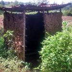 The Water Project: Ewamakhumbi Community, Yanga Spring -  Mud Walled Latrine